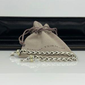 David Yurman 925 & 14k gold Wheat Chain Bracelet